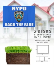 OFFICIAL NYPD back the blue yard sign 18x12 Yard Sign aos-yard-sign-18x12-lifestyle-front-25