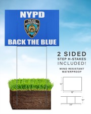 OFFICIAL NYPD back the blue yard sign 18x12 Yard Sign aos-yard-sign-18x12-lifestyle-front-26