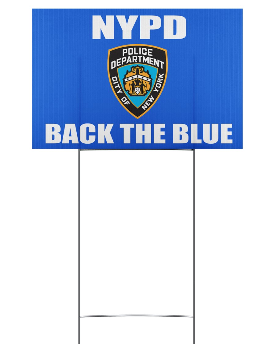 OFFICIAL NYPD back the blue yard sign 18x12 Yard Sign