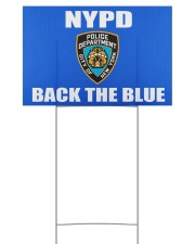 OFFICIAL NYPD back the blue yard sign 18x12 Yard Sign front