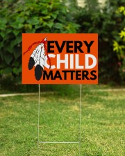 Every Child Matters Yard Sign Orange Shirt Day  18x12 Yard Sign aos-yard-sign-18x12-lifestyle-front-21