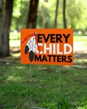 Every Child Matters Yard Sign Orange Shirt Day  18x12 Yard Sign aos-yard-sign-18x12-lifestyle-front-24