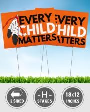 Every Child Matters Yard Sign Orange Shirt Day  18x12 Yard Sign aos-yard-sign-18x12-lifestyle-front-32