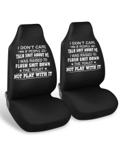 I don't care if people talk shit about me  Car Seat Covers aos-car-seat-cover-set-2-pcs-ghosted-front-02