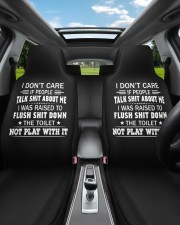 I don't care if people talk shit about me  Car Seat Covers aos-car-seat-cover-set-2-pcs-lifestyle-front-02a