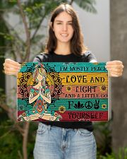 Yoga i'm mostly peace love and light poster 17x11 Poster poster-landscape-17x11-lifestyle-19