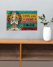 Yoga i'm mostly peace love and light poster 17x11 Poster poster-landscape-17x11-lifestyle-24