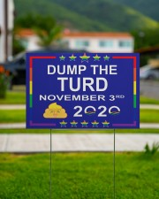Dump the turd november 3rd yard signs 18x12 Yard Sign aos-yard-sign-18x12-lifestyle-front-10