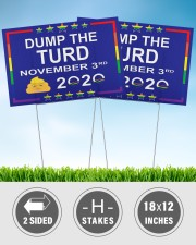 Dump the turd november 3rd yard signs 18x12 Yard Sign aos-yard-sign-18x12-lifestyle-front-32