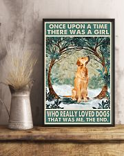 Golden retriever There was a girl who really loved 11x17 Poster lifestyle-poster-3