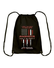 America: Love It Or Leave It Drawstring Bag thumbnail