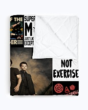 "Supernatural Quilt Blanket Quilt 50""x60"" - Throw aos-quilt-50x60-lifestyle-closeup-front-01"