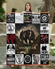 "Supernatural Quilt Blanket Quilt 50""x60"" - Throw aos-quilt-50x60-lifestyle-front-03"