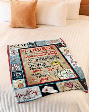 "Nurse Blanket HLA Small Fleece Blanket - 30"" x 40"" aos-coral-fleece-blanket-30x40-lifestyle-front-01"