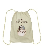 Owl We Need Is Love Drawstring Bag tile
