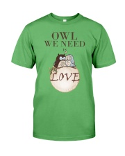 Owl We Need Is Love Premium Fit Mens Tee front