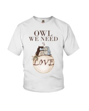 Owl We Need Is Love Youth T-Shirt thumbnail