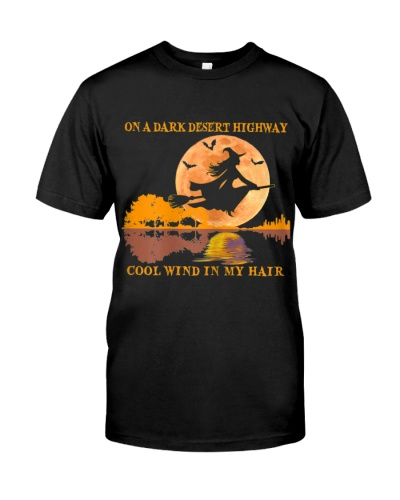 WOMENS WITCH HALLOWEEN COSTUME GIFT T SHIRT