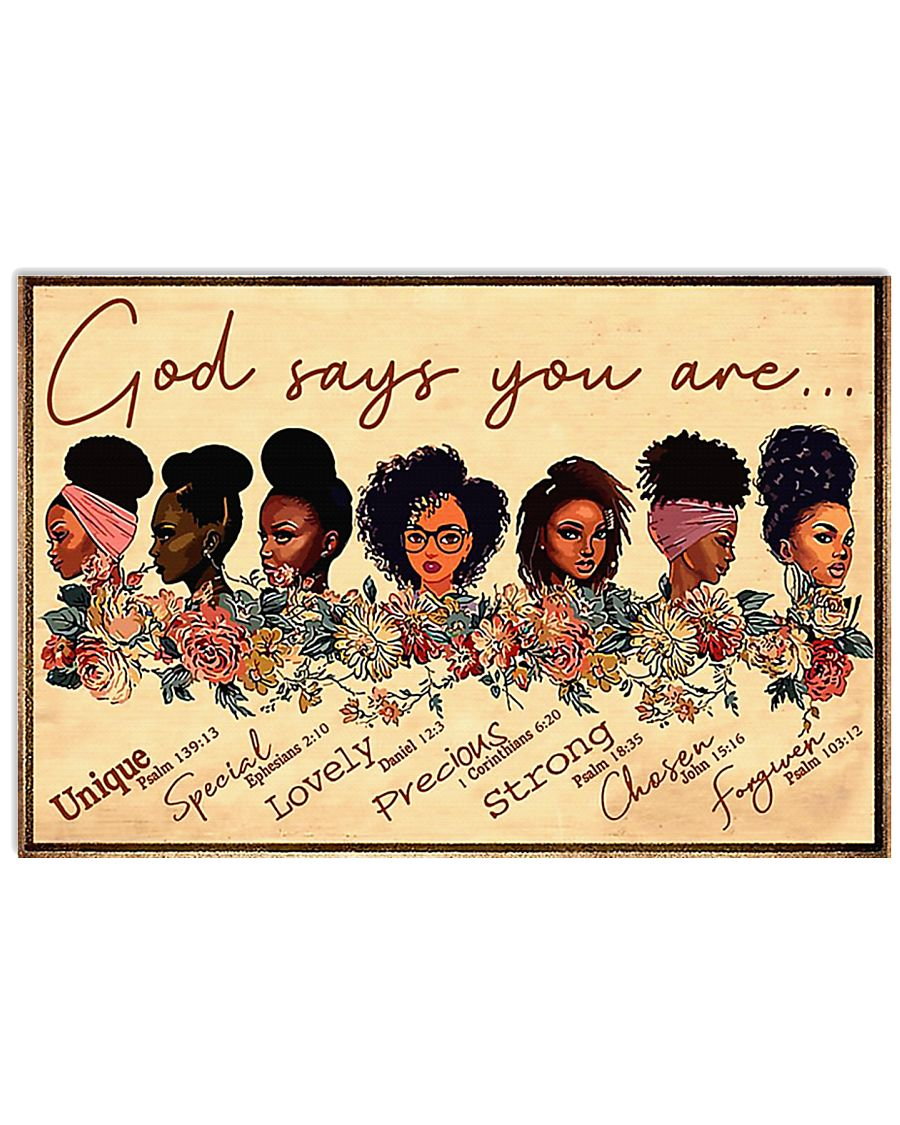God says you are unique 17x11 Poster