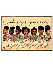 God says you are unique 17x11 Poster front