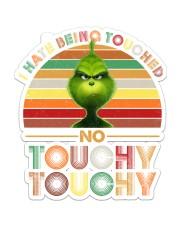 grinch touchy Sticker - Single (Vertical) front