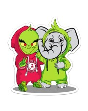 grinch and Alabamas friend Sticker - Single (Vertical) front