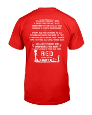 Wear Red On Friday Classic T-Shirt back