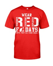 Wear Red On Friday Classic T-Shirt front