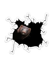 Ferrets Crack Sticker - Single (Vertical) front
