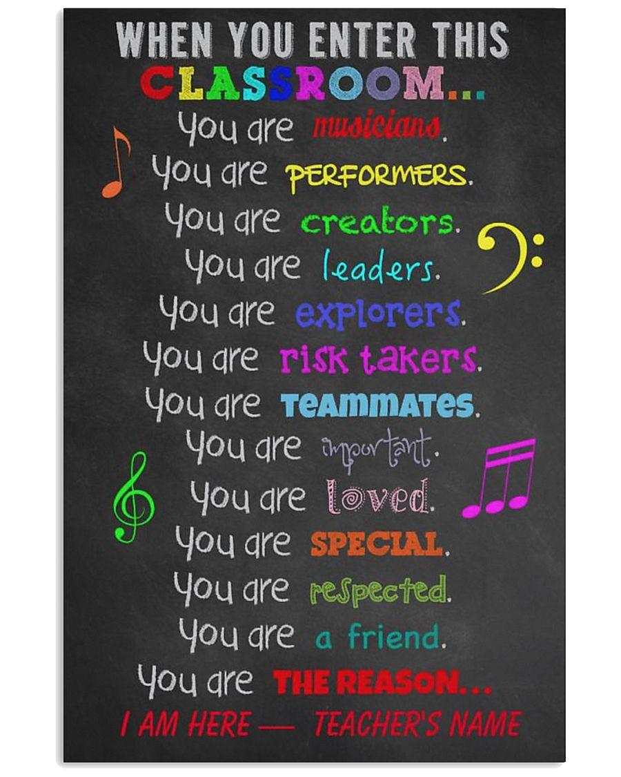MUSIC TEACHER 11x17 Poster