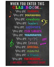 MUSIC TEACHER 11x17 Poster front