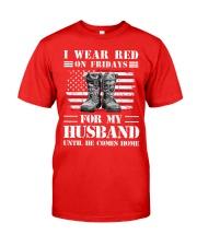77veteran red husband Classic T-Shirt front