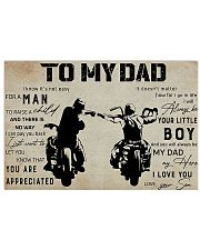 To my dad 17x11 Poster front