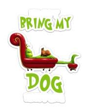 grinch dog Sticker - Single (Vertical) front
