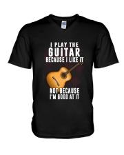 Play Guitar V-Neck T-Shirt thumbnail