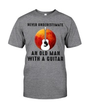 Old Man With guitar Classic T-Shirt front