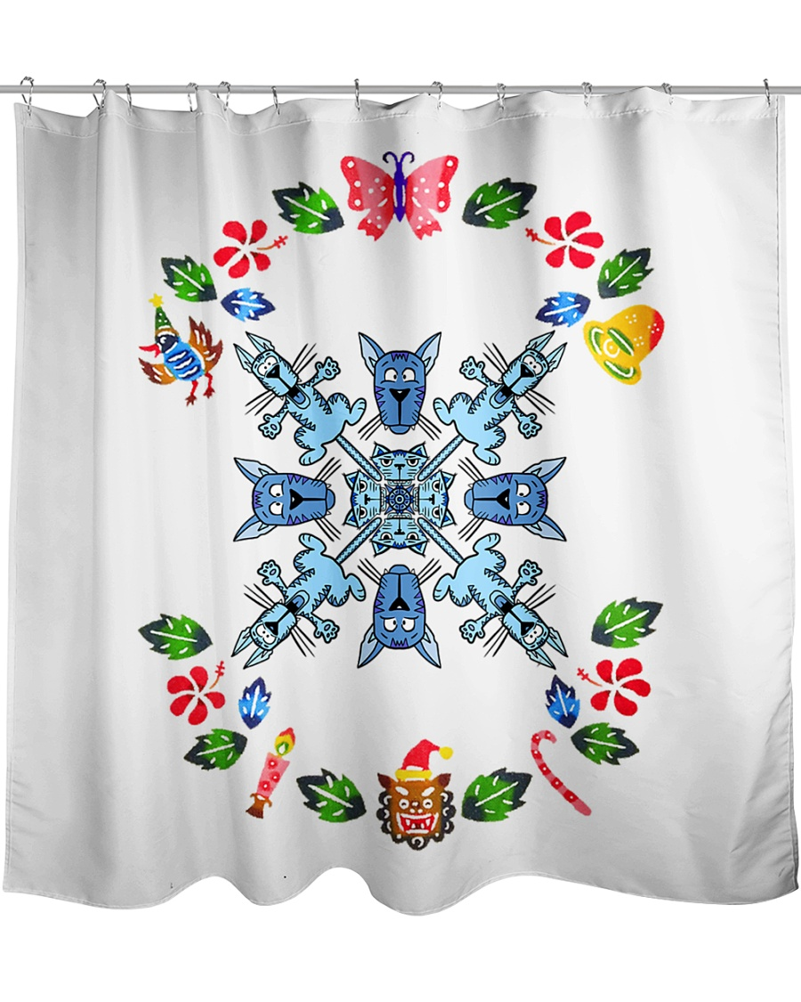 Christmas and Cats Bundle  Shower Curtain