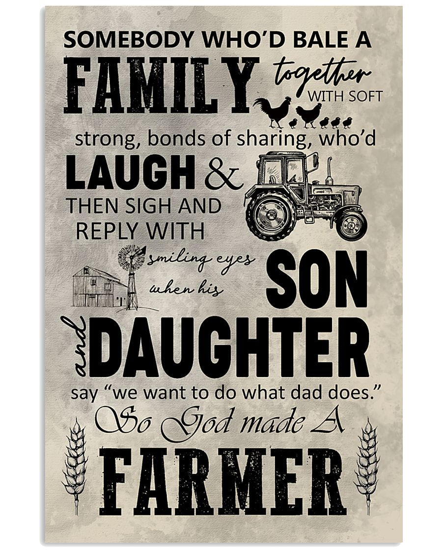 FARMER POSTER TO DAD N037 11x17 Poster