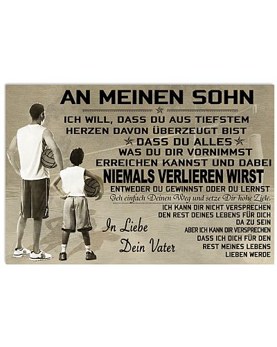 volleyball poster - to son-never lose german vs1