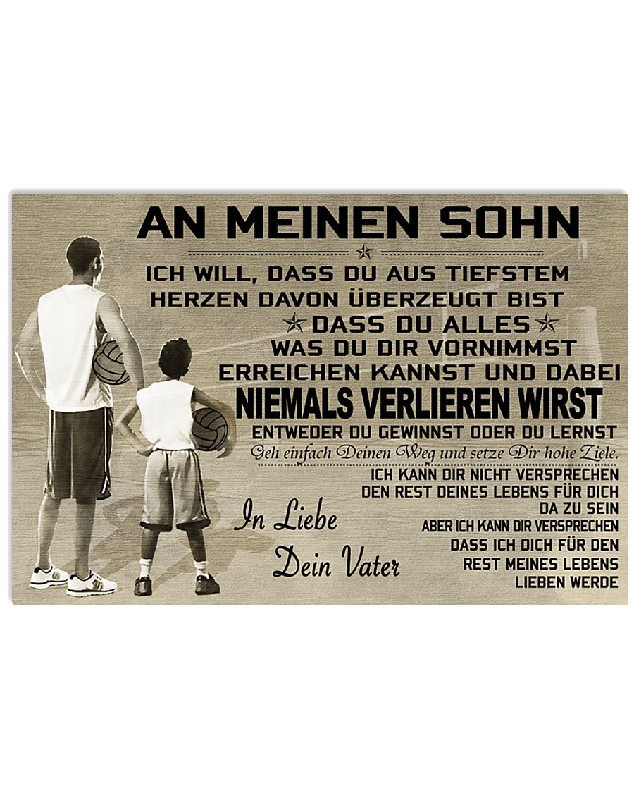 volleyball poster - to son-never lose german vs1 17x11 Poster