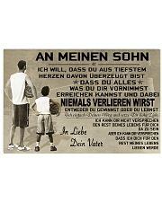 volleyball poster - to son-never lose german vs1 17x11 Poster front