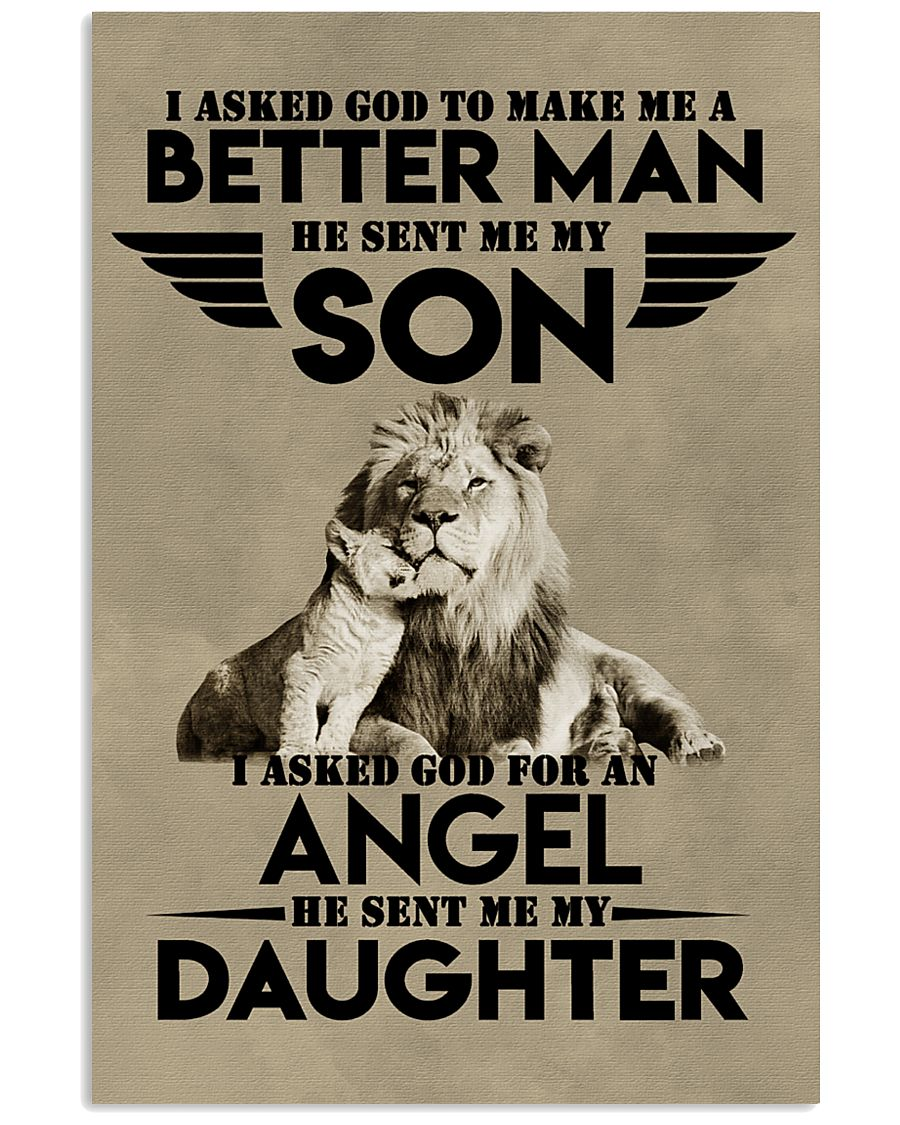 LION - I ASKED GOD TO MAKE ME AN BETTER MAN 16x24 Poster