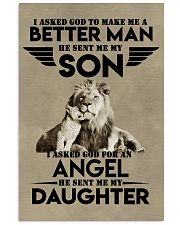LION - I ASKED GOD TO MAKE ME AN BETTER MAN 16x24 Poster front
