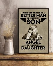 LION - I ASKED GOD TO MAKE ME AN BETTER MAN 16x24 Poster lifestyle-poster-3