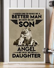 LION - I ASKED GOD TO MAKE ME AN BETTER MAN 16x24 Poster lifestyle-poster-4