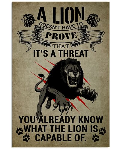 LION - A LION DOESN'T HAVE TO PROVE