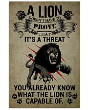 LION - A LION DOESN'T HAVE TO PROVE 16x24 Poster front