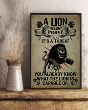 LION - A LION DOESN'T HAVE TO PROVE 16x24 Poster lifestyle-poster-3