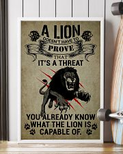 LION - A LION DOESN'T HAVE TO PROVE 16x24 Poster lifestyle-poster-4