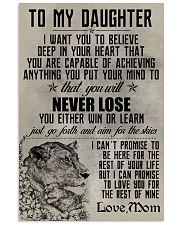 LION - TO MY DAUGHTER 16x24 Poster front